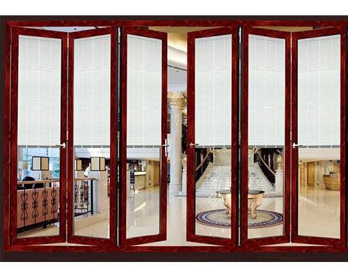 百叶中空玻璃折叠门